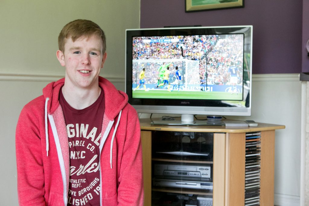 Leaving Cert Student Conor Cullen pictured at home in Clonlara Co.Clare Picture Credit Brian Gavin Press 22